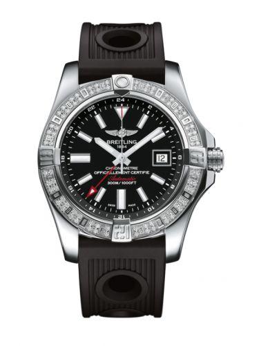 Breitling A3239053.BC35.200S : Avenger II GMT Stainless Steel / Diamond / Volcano Black / Rubber