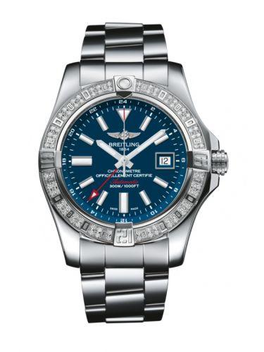 Breitling A3239053.C872.170A : Avenger II GMT Stainless Steel / Diamond / Mariner Blue / Bracelet
