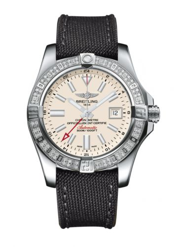 Breitling A3239053.G778.109W : Avenger II GMT Stainless Steel / Diamond / Stratus Silver / Military