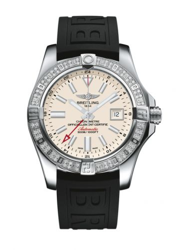 Breitling A3239053.G778.152S : Avenger II GMT Stainless Steel / Diamond / Stratus Silver / Rubber