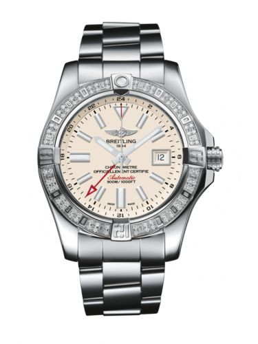Breitling A3239053.G778.170A : Avenger II GMT Stainless Steel / Diamond / Stratus Silver / Bracelet