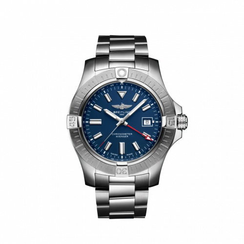 Breitling A32395101C1A1 : Avenger Automatic GMT 45 Stainless Steel / Blue / Bracelet