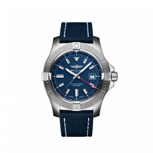 Breitling A32395101C1X2 : Avenger Automatic GMT 45 Stainless Steel / Blue / Military / Folding