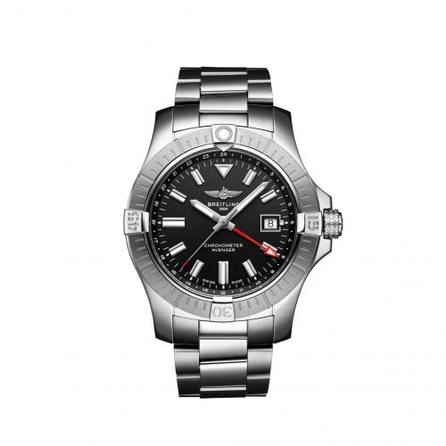 Breitling A32397101B1A1 : Avenger Automatic GMT 43 Stainless Steel / Black / Bracelet