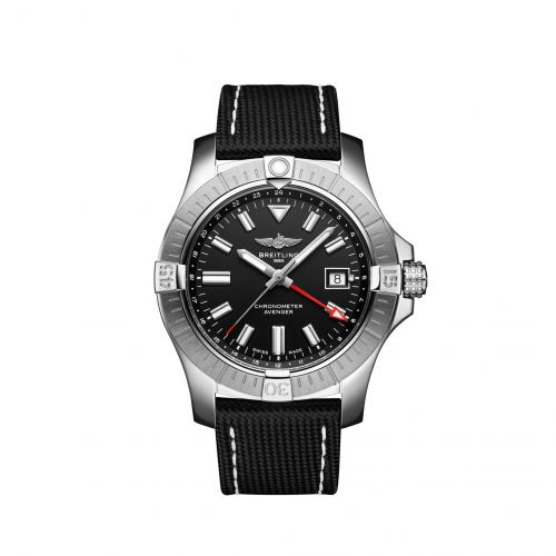 Breitling A32397101B1X1 : Avenger Automatic GMT 43 Stainless Steel / Black / Calf / Pin