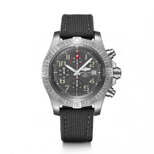 Breitling E13383101M1W1 : Avenger Bandit Titanium / Titanium Gray / Silver Hands / Military / Pin