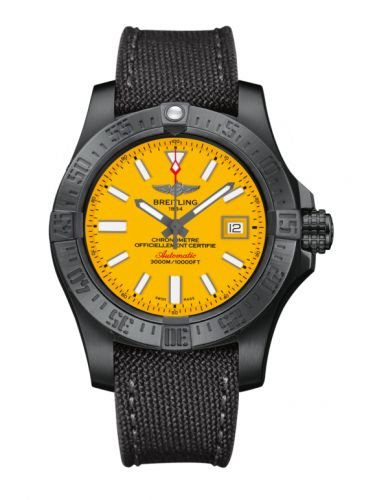 Breitling M17331E2.I530.109W : Avenger II Seawolf Black Steel / Cobra Yellow / Military / Limited Edition