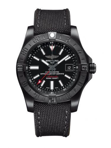 Breitling M3239010.BF04.109W : Avenger II GMT Black Steel / Volcano Black / Military