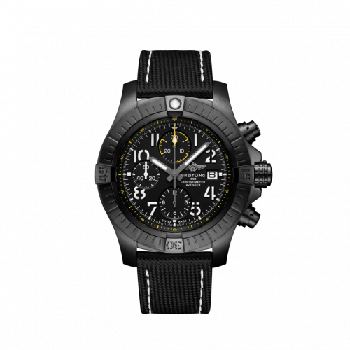 Breitling V13317101B1X1 : Avenger Chronograph 45 Night Mission / Black / Military / Pin