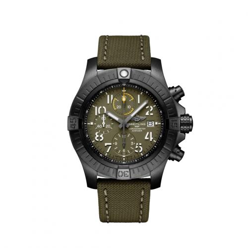 Breitling V13317101L1X1 : Avenger Chronograph 45 Night Mission / Green / Military / Pin