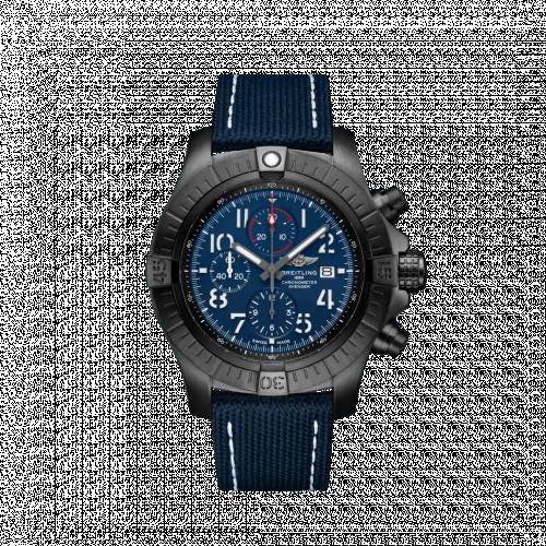 Breitling V13375101C1X2 : Avenger Chronograph 48 Night Mission / Blue / Military / Folding