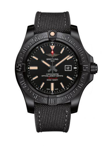 Breitling V1731010.BD12.100W : Avenger Blackbird 48 Black Titanium / Volcano Black  / Military