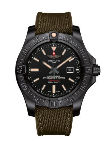 Breitling V1731010/BD12/105W/M20BASA.1 : Avenger Blackbird 48 Black Titanium / Volcano Black / Military / Pin