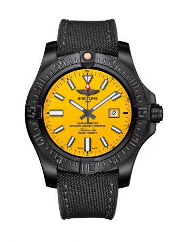 Breitling V173104T.I524.100W : Avenger Blackbird 48 Black Titanium / Cobra Yellow / Military / Boutique Editions