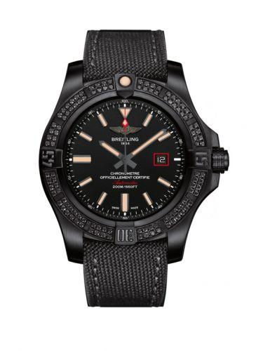 Breitling V17311AT.BD74.109W : Avenger Blackbird 44 Black Titanium / Diamond / Volcano Black / Military