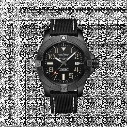 Breitling V17319101B1X1 : Avenger Automatic 45 Seawolf Night Mission / Black / Military / Pin
