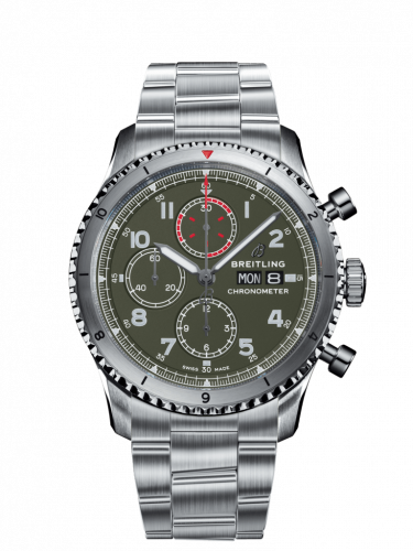 Breitling A133161A1L1A1 : Aviator 8 Chronograph 43 Stainless Steel / Curtiss Warhawk / Bracelet