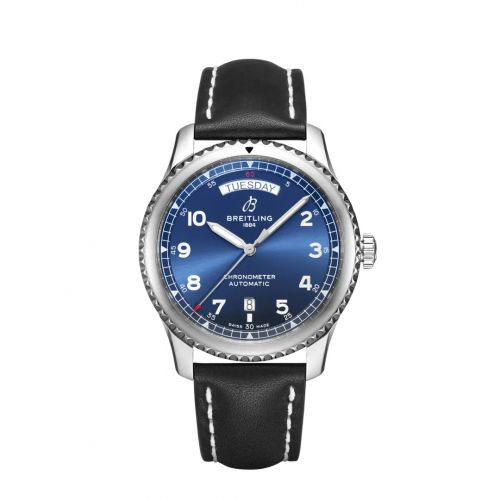Breitling A45330101C1X4 : Navitimer 8 Automatic Day & Date 41 Stainless Steel / Blue / Black Calf / Folding