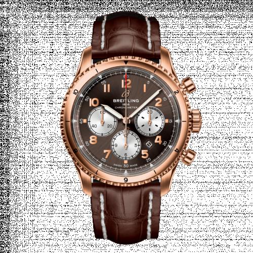 RB0119131Q1P2 : Breitling Aviator 8 B01 Chronograph 43 Red Gold / Bronze / Brown Croco