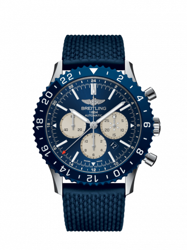 Breitling YB04601A.A969.277S : Chronoliner B04 Stainless Steel / Blue / Rubber