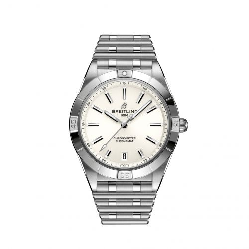 Breitling A10380101A3A1 : Chronomat Automatic 36 Stainless Steel / White / Rouleaux