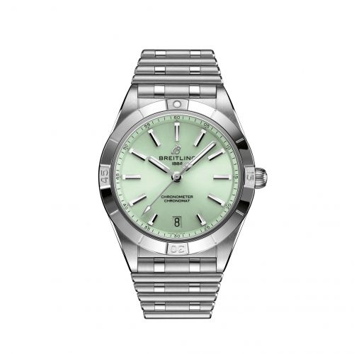 Breitling A10380101L1A1 : Chronomat Automatic 36 Stainless Steel / Green / Rouleaux