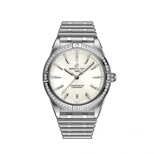 Breitling A10380591A1A1 : Chronomat Automatic 36 Stainless Steel - Diamond / White / Rouleaux