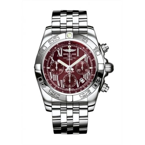 AB011012.K522.375A : Breitling Chronomat 44 Stainless Steel / Mirage Red / Bracelet