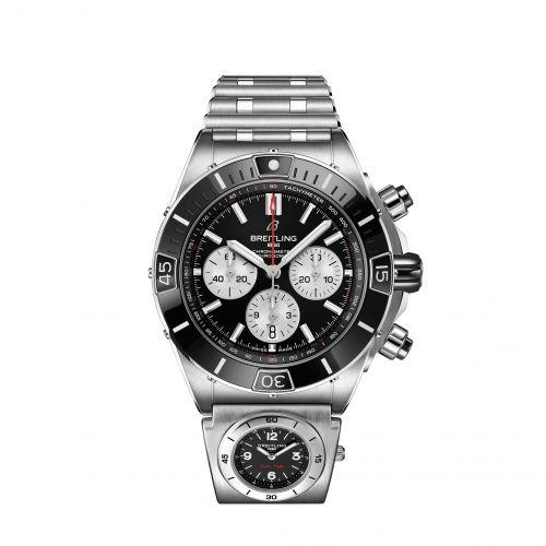 Breitling AB0136251B1A2 : Super Chronomat B01 44 Stainless Steel / Black / Rouleaux - UTC