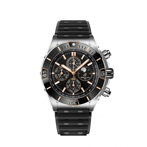 Breitling I19320251B1S1 : Super Chronomat 1461 Days 44 Stainless Steel / Black / Rubber Rouleaux