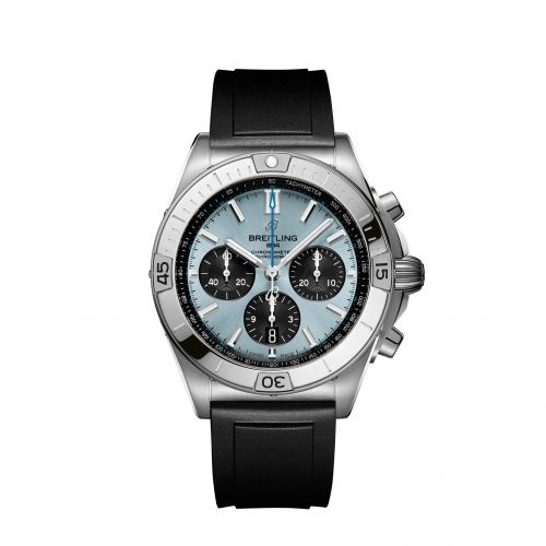 Breitling PB0134101C1S1 : Chronomat B01 42 Stainless Steel / Platinum / Ice Blue