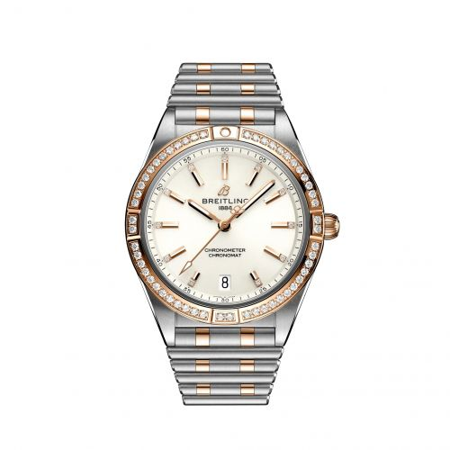 Breitling U10380591A1U1 : Chronomat Automatic 36 Stainless Steel / Red Gold - Diamond / White / Rouleaux