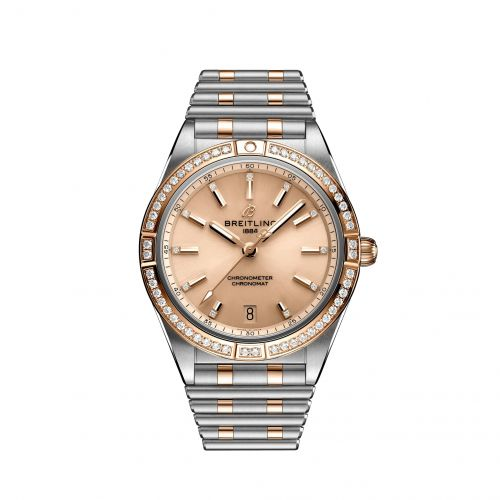 Breitling U10380591K1U1 : Chronomat Automatic 36 Stainless Steel / Red Gold - Diamond / Copper / Rouleaux