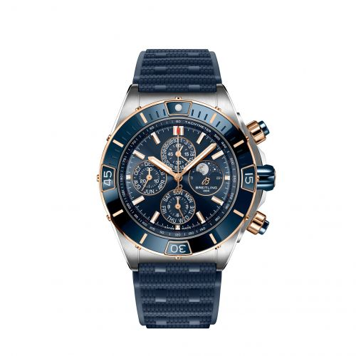 Breitling U19320161C1S1 : Super Chronomat 1461 Days 44 Stainless Steel / Red Gold / Blue / Rubber