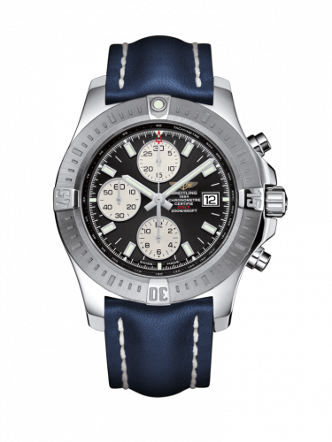 Breitling A1338811/BD83/112X/A20D.1 : Colt Chronograph Automatic Stainless Steel / Volcano Black / Calf / Folding