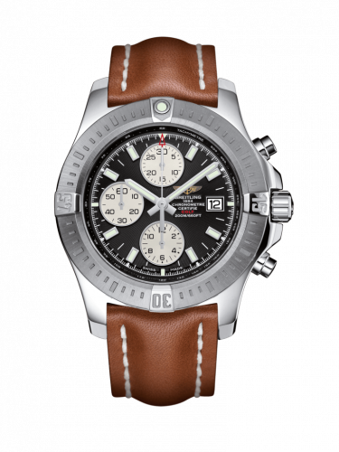 Breitling A1338811/BD83/434X/A20D.1 : Colt Chronograph Automatic Stainless Steel / Volcano Black / Calf / Folding