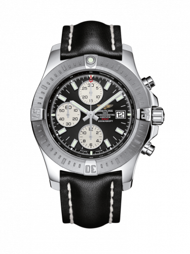 Breitling A1338811/BD83/436X/A20D.1 : Colt Chronograph Automatic Stainless Steel / Volcano Black / Calf / Folding