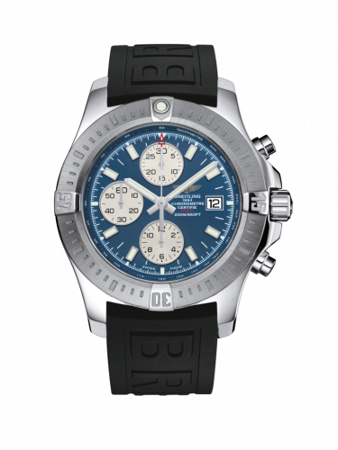 Breitling A1338811/C914/153S/A20D.2 : Colt Chronograph Automatic Stainless Steel / Mariner Blue / Rubber / Folding