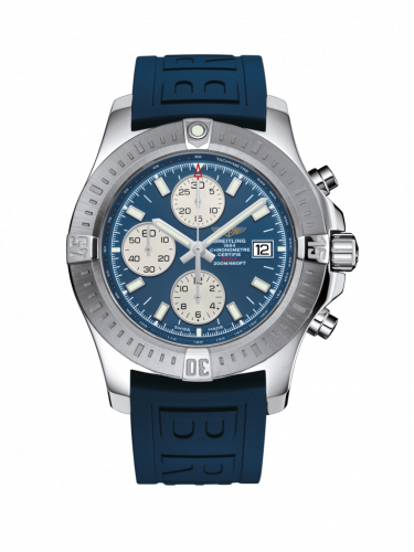 Breitling A1338811/C914/157S/A20D.2 : Colt Chronograph Automatic Stainless Steel / Mariner Blue / Rubber / Folding