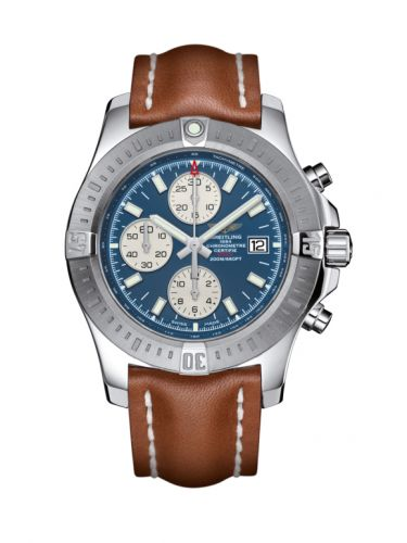 Breitling A1338811/C914/433X/A20BA.1 : Colt Chronograph Automatic Stainless Steel / Mariner Blue / Calf / Pin
