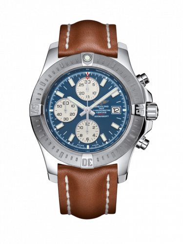 Breitling A1338811/C914/434X/A20D.1 : Colt Chronograph Automatic Stainless Steel / Mariner Blue / Calf / Folding