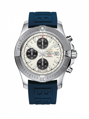 Breitling A1338811/G804/157S/A20D.2 : Colt Chronograph Automatic Stainless Steel / Stratus Silver / Rubber / Folding
