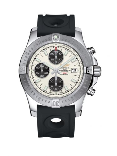 Breitling A1338811/G804/227S/A20S.1 : Colt Chronograph Automatic Stainless Steel / Stratus Silver / Rubber / Pin
