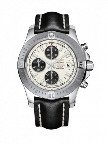 Breitling A1338811/G804/436X/A20D.1 : Colt Chronograph Automatic Stainless Steel / Stratus Silver / Calf / Folding