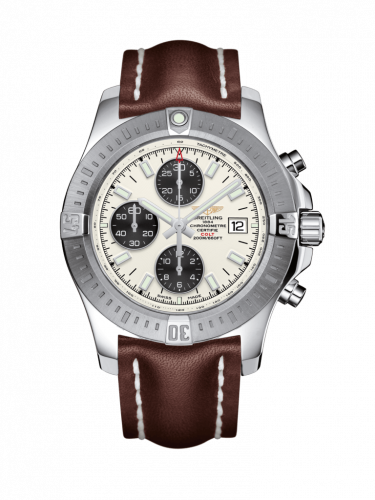 Breitling A1338811/G804/438X/A20D.1 : Colt Chronograph Automatic Stainless Steel / Stratus Silver / Calf / Folding