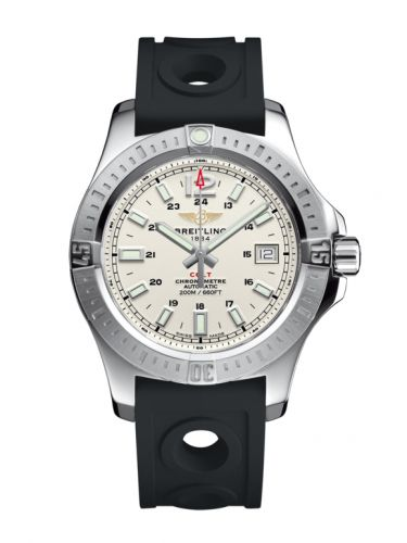 Breitling A1731311.G820.225S : Colt 41 Automatic Stratus Silver / Rubber