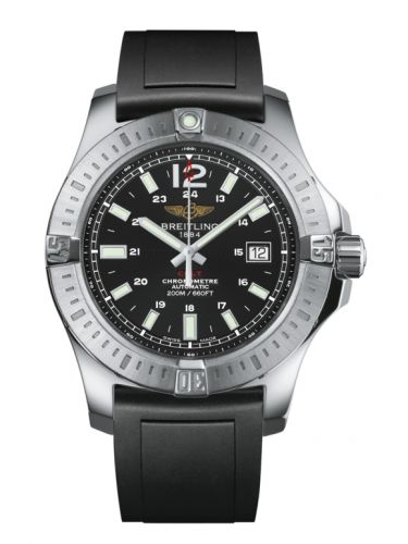 Breitling A1738811.BD44.131S : Colt 44 Automatic Volcano Black / Rubber