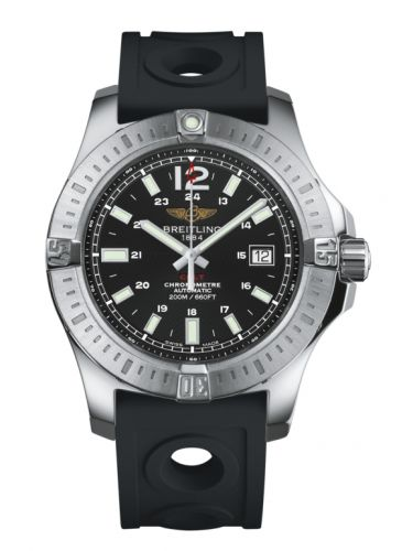 Breitling A1738811.BD44.227S : Colt 44 Automatic Volcano Black / Rubber