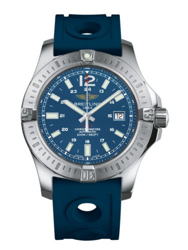 Breitling A1738811.C906.228S : Colt 44 Automatic Mariner Blue / Rubber