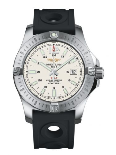 Breitling A1738811.G791.227S : Colt 44 Automatic Stratus Silver / Rubber